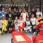 INDYCAR drivers become superheroes for annual Riley Hospital visit