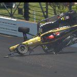 Qualifying crash puts Hinchcliffe's Indy 500 bid in jeopardy again