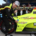 Pagenaud celebrates Indy 500 pole as Alonso heads home