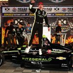 Newgarden makes late charge to win at Texas Motor Speedway