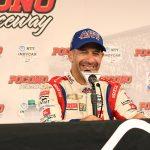 Kanaan leads Pocono practice, Newgarden to start on pole
