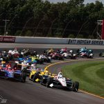 """I drove straight"": Sato responds after Rossi blames him for Pocono crash 