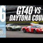 Stunning Daytona Cobra v GT40 battle
