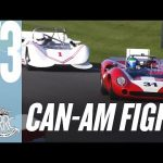 Mighty sliding Can-Am battle at Goodwood